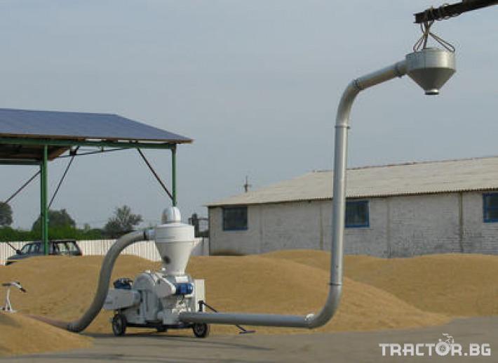 Обработка на зърно Пневматичен зърнотоварач (пневматичен транспортьор за зърно) 1 - Трактор БГ