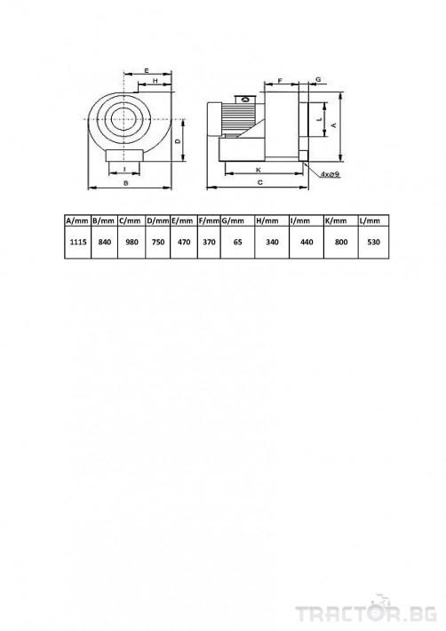 Машини за ферми Турбинен центробежен вентилатор 17 кВт 6 - Трактор БГ