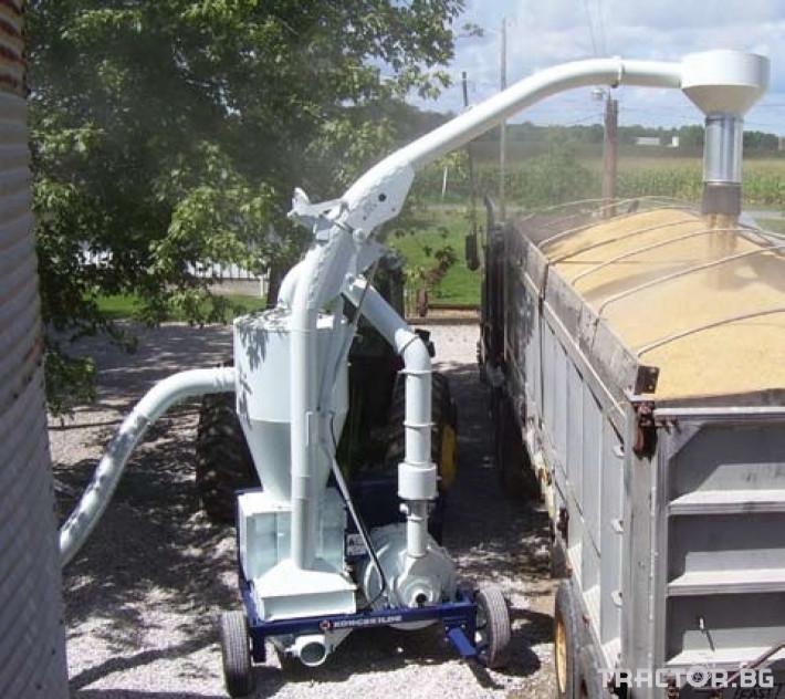 Обработка на зърно Пневматичен зърнотоварач (пневматичен транспортьор за зърно) 6 - Трактор БГ